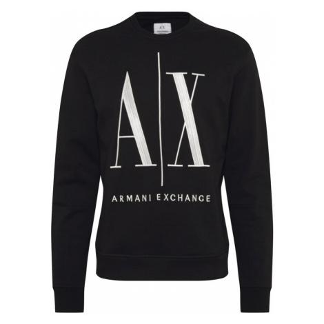ARMANI EXCHANGE Bluzka sportowa biały / czarny