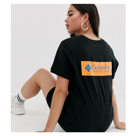 Columbia North Cascades t-shirt in black with orange back print