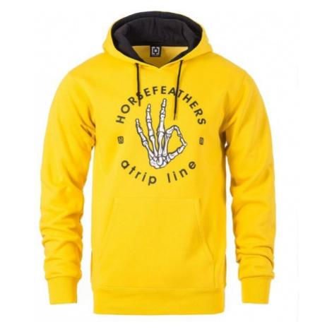 Horsefeathers LANGLEY ATRIP SWEATSHIRT żółty XL - Bluza męska