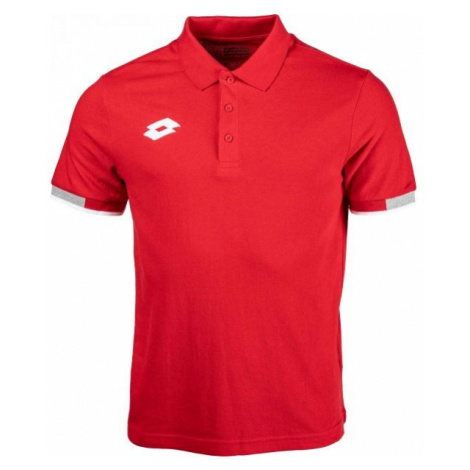 Lotto POLO DELTA czerwony L - Koszulka polo męska