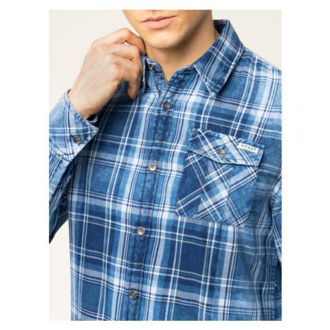 Guess Koszula Jefferson M01H46 WCK30 Granatowy Slim Fit