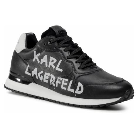 Sneakersy KARL LAGERFELD - KL52915 Black/White Lthr