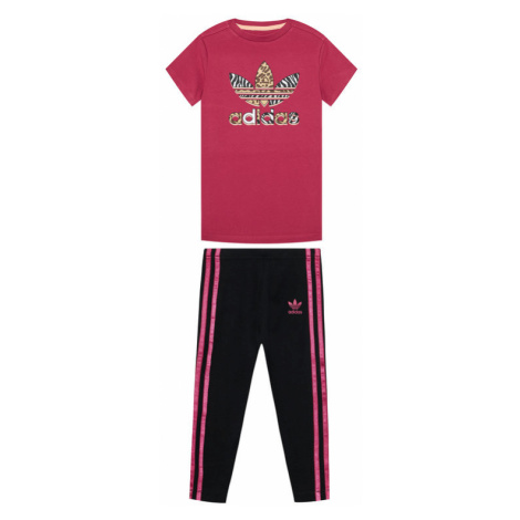 Adidas Komplet t-shirt i legginsy Graphic Print Tee Dress GN2214 Kolorowy Slim Fit