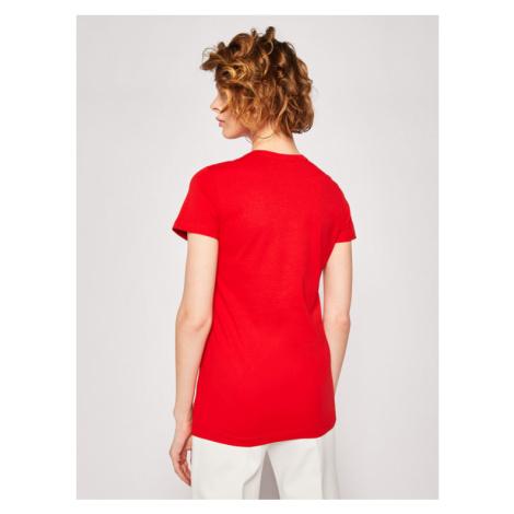 LOVE MOSCHINO T-Shirt W4F7365M 3876 Czerwony Regular Fit