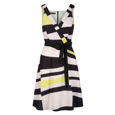 APART Letnia sukienka żółty / różowy pudrowy / czarny