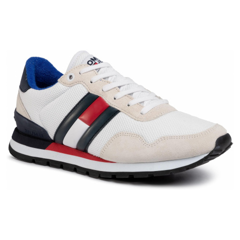 Sneakersy TOMMY JEANS - Casual Tommy Jeans Sneaker EM0EM00399 White YBS Tommy Hilfiger