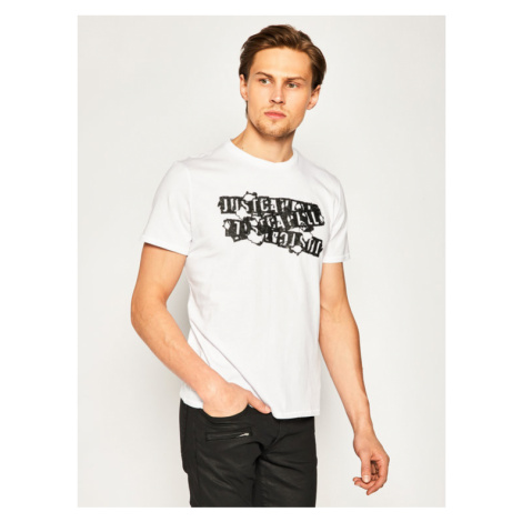 Just Cavalli T-Shirt S03GC0584 Żółty Regular Fit