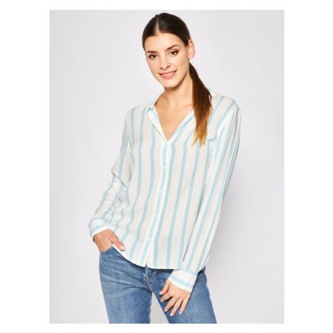 Wrangler Koszula Stripe W5R6TIB13 Biały Regular Fit