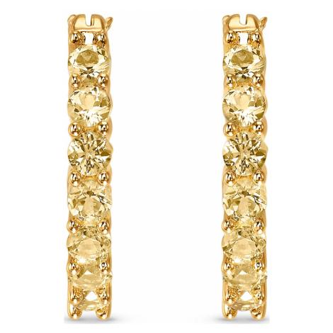 Kolczyki sztyftowe w kształcie koła z kolekcji Vittore, w odcieniu złota, powlekane złotem Swarovski