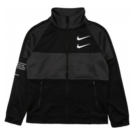Nike Sportswear Bluza rozpinana 'SWOOSH' antracytowy / czarny / biały
