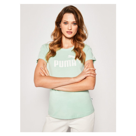 Puma T-Shirt Amplified Tee 581218 Zielony Regular Fit