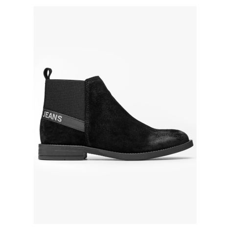"""Tommy Jeans """"Essential Suede Chelsea Boot"""" Black Tommy Hilfiger"""