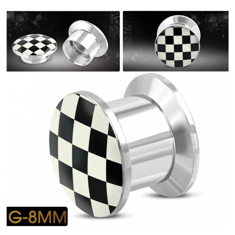 piercing Body Art TTB230 - White Check
