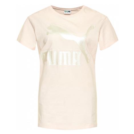 Puma T-Shirt Classics Logo Tee 595514 Różowy Regular Fit