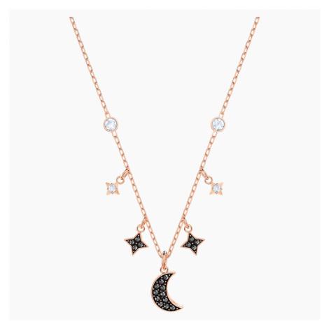 Naszyjnik Moon z kolekcji Swarovski Symbolic, czarny, w odcieniu różowego złota