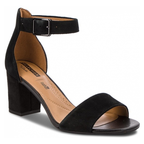 Sandały CLARKS - Deva Mae 261275684 Black Suede