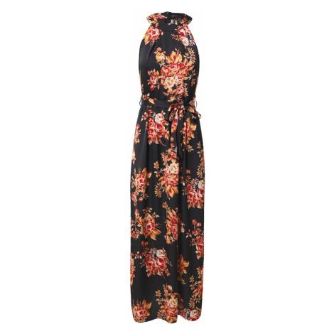 Mela London Sukienka czarny / pomarańczowy / czerwony