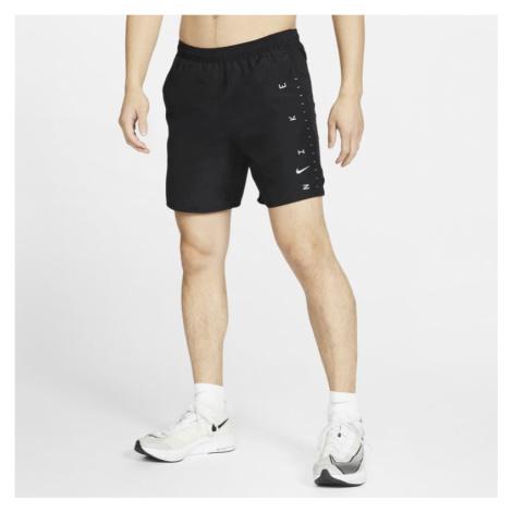 Męskie spodenki z szortami do biegania 18 cm Nike Challenger - Czerń