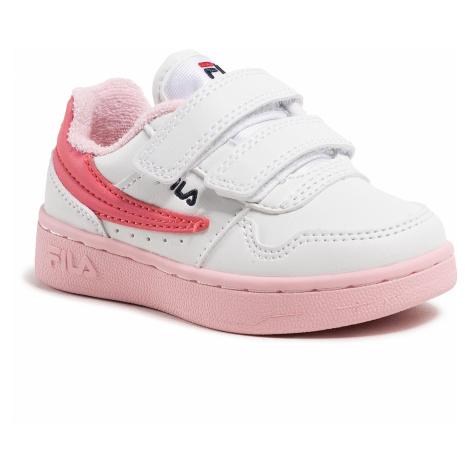 Sneakersy FILA - Arcade Velcro Infants 1011078.94F White/Coral Blush