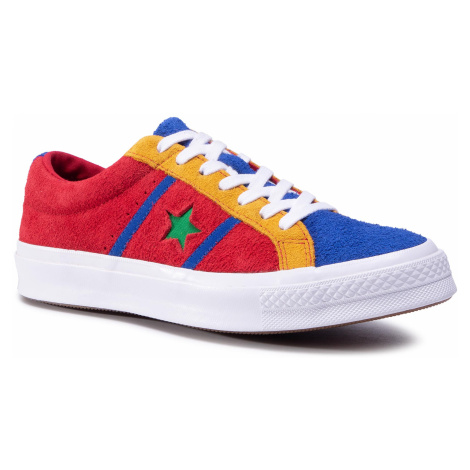 Tenisówki CONVERSE - One Star Academy Ox 164393C Enamel Red/Blue/White