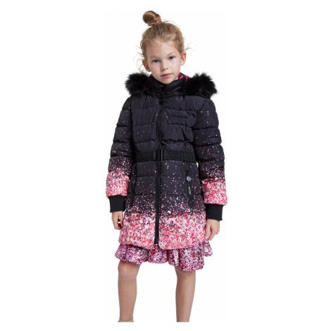 Desigual czarny płaszcz dziewczęcy Chaq Aguacate