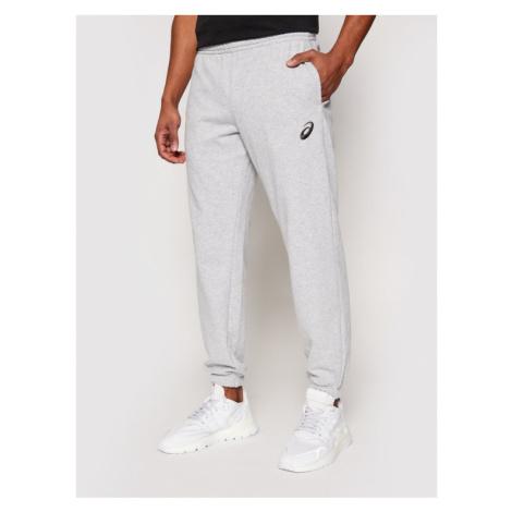 Asics Spodnie dresowe Small Logo 2031A981 Szary Regular Fit
