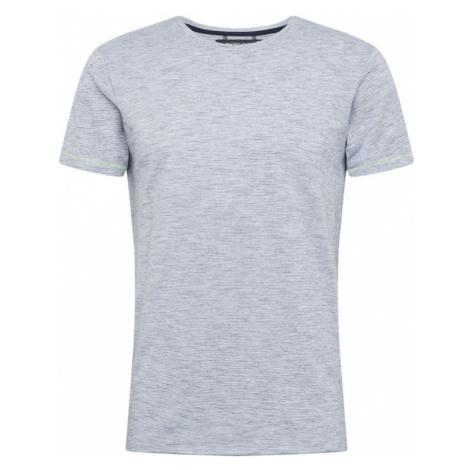 INDICODE JEANS Koszulka 'Fuenlabrada' biały / niebieski