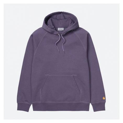 Bluza męska Carhartt WIP Hooded Chase Sweat I026384 PROVENCE/GOLD