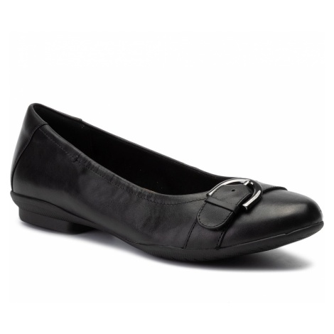 Baleriny CLARKS - Neenah Lark 261356475 Black Leather