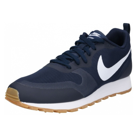 Nike Sportswear Trampki niskie 'MD Runner 2 19' granatowy / biały