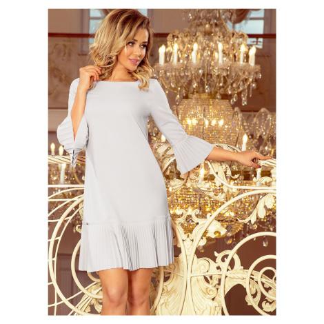 Szara sukienka w stylu numoco