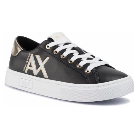 Sneakersy ARMANI EXCHANGE - XDX027 XV302 R448 Black/Gold/Black