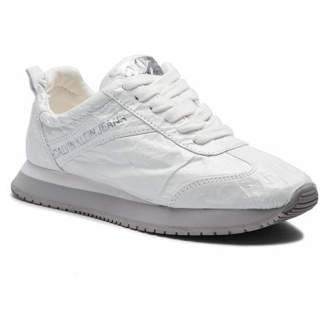 Sneakersy CALVIN KLEIN JEANS - Jill Metallic Crinkle R7806 White