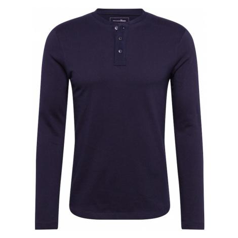 TOM TAILOR DENIM Koszulka 'Henley' ciemny niebieski