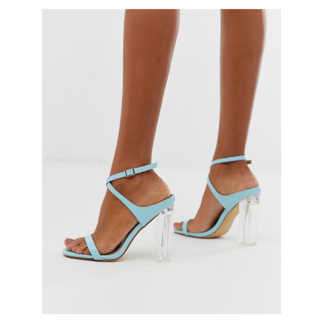 Co Wren bright clear heeled sandals