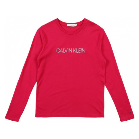 Calvin Klein Jeans Koszulka 'LOGO FOIL PRINT LS T' różowy