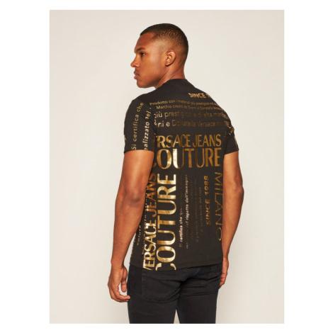 Versace Jeans Couture T-Shirt B3GZA7TL Czarny Regular Fit