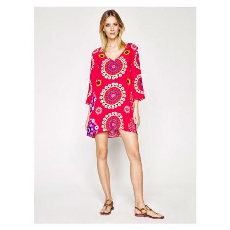 Desigual Sukienka plażowa Manly 20SWMW08 Czerwony Regular Fit