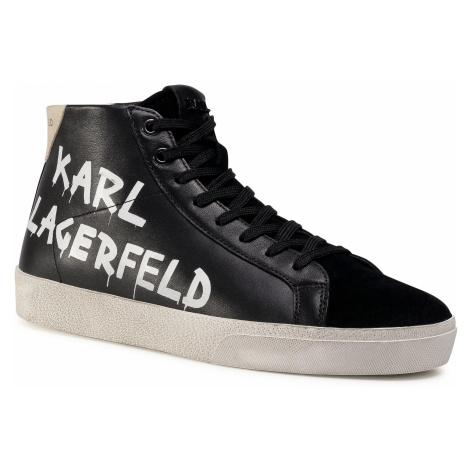 Sneakersy KARL LAGERFELD - KL51346 Black Lthr & Suede 300