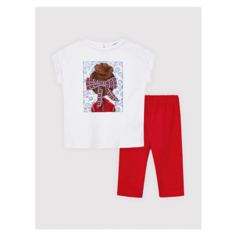 Mayoral Komplet t-shirt i legginsy 3735 Kolorowy Regular Fit
