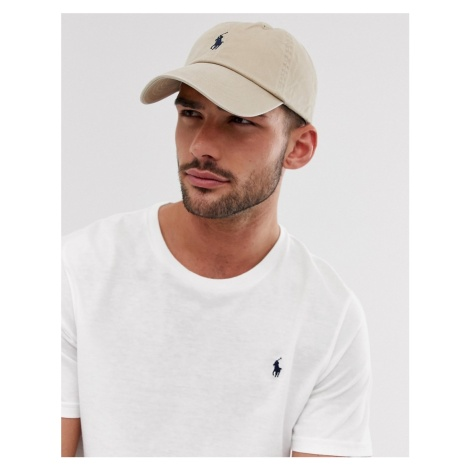 Polo Ralph Lauren logo baseball cap in beige