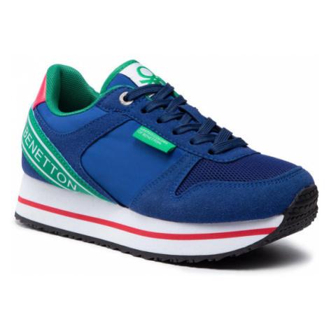United Colors Of Benetton Sneakersy Joy Mix BTW113205 Niebieski