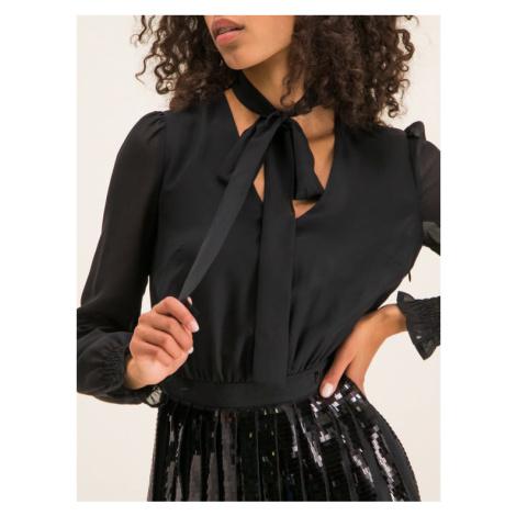Trussardi Sukienka koktajlowa Georgette 56D00313 Czarny Regular Fit