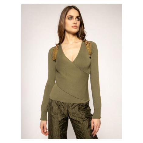 Patrizia Pepe Sweter 8M0909/A6J7-G479 Zielony Slim Fit