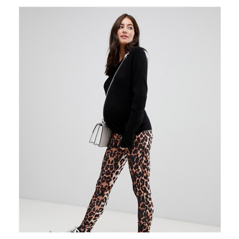 ASOS DESIGN Maternity over the bump animal print legging