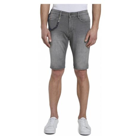 Szare jeansowe szorty męskie Tom Tailor