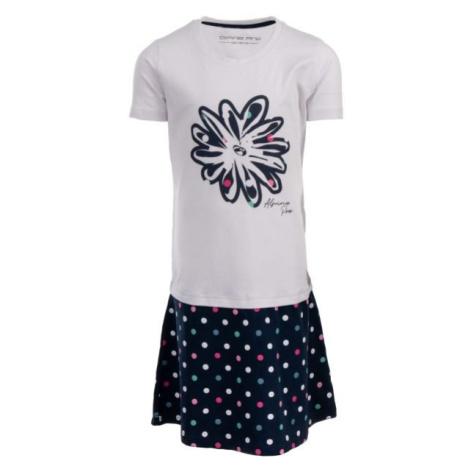 ALPINE PRO THOMASO biały 152-158 - Sukienka dziewczęca
