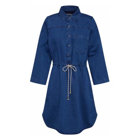 EDC BY ESPRIT Sukienka koszulowa niebieski denim