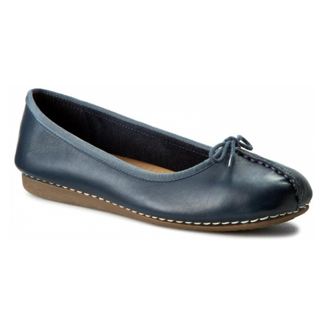 Baleriny CLARKS - Freckle Ice 203529324 Navy Leather
