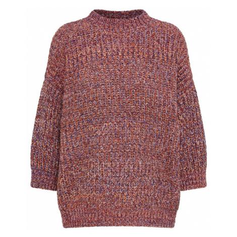 Y.A.S Sweter pomarańczowy / różowy